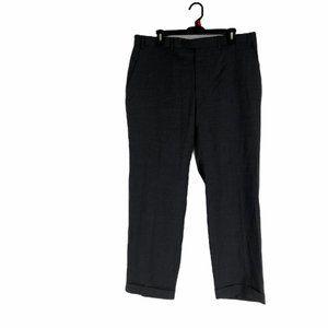 John Varvatos Mens Plaid Wool Dress Pants Sz 36